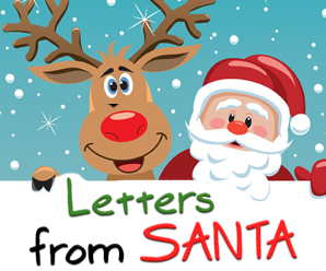 Begin writing a letter from Santa to your child